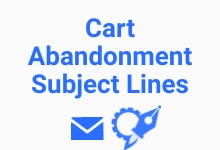 Cart abandonment email subject line generator
